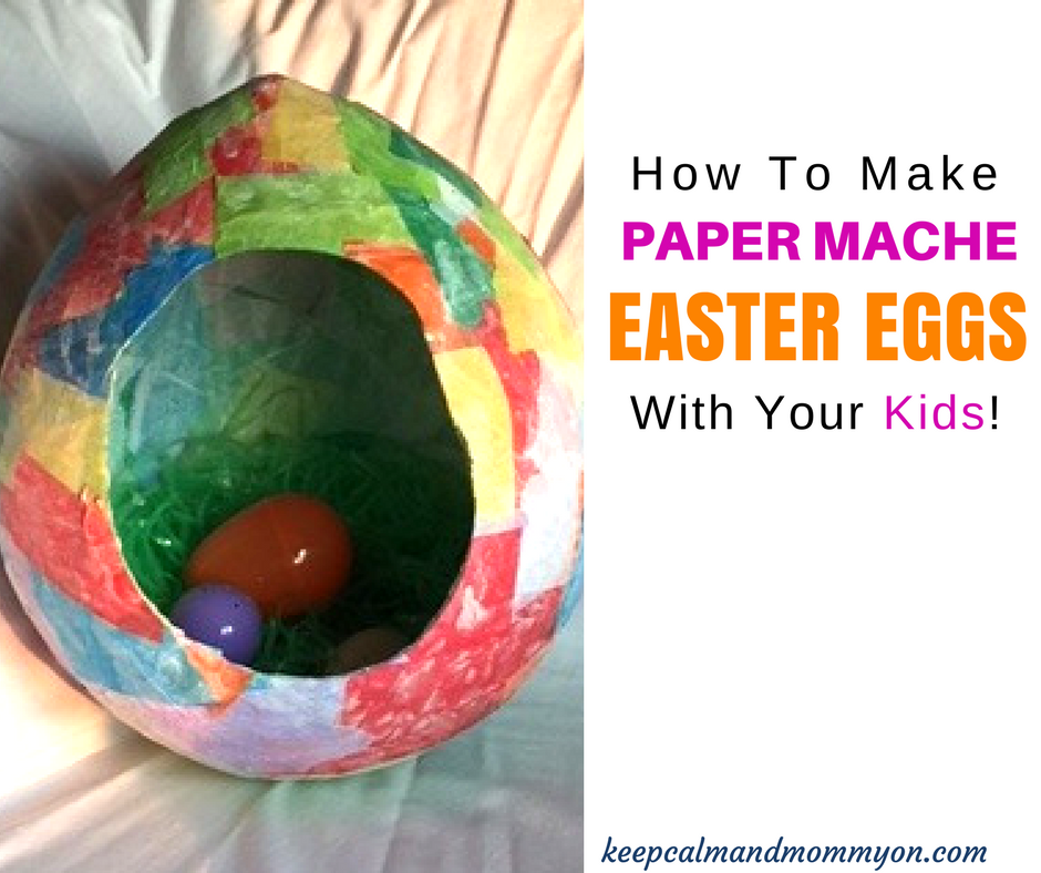 How To Make Paper Mache Easter Eggs!