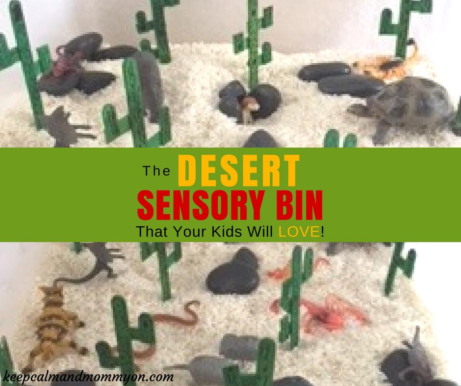 Desert Sensory Bin!