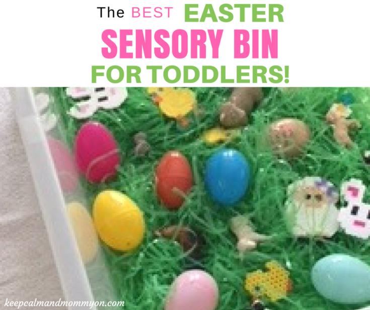 Easter Sensory Bin For Toddlers!