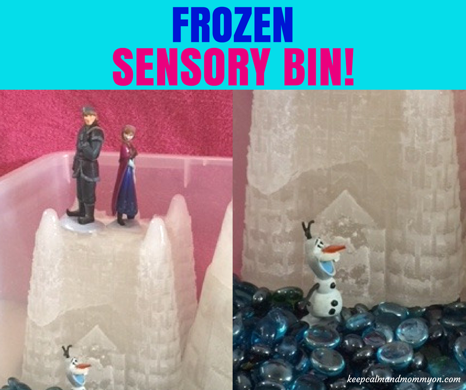 Frozen Sensory Bin!