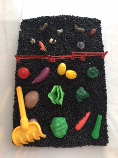 Vegetable Garden Sensory Bin