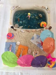 Day at the Beach Sensory Bin