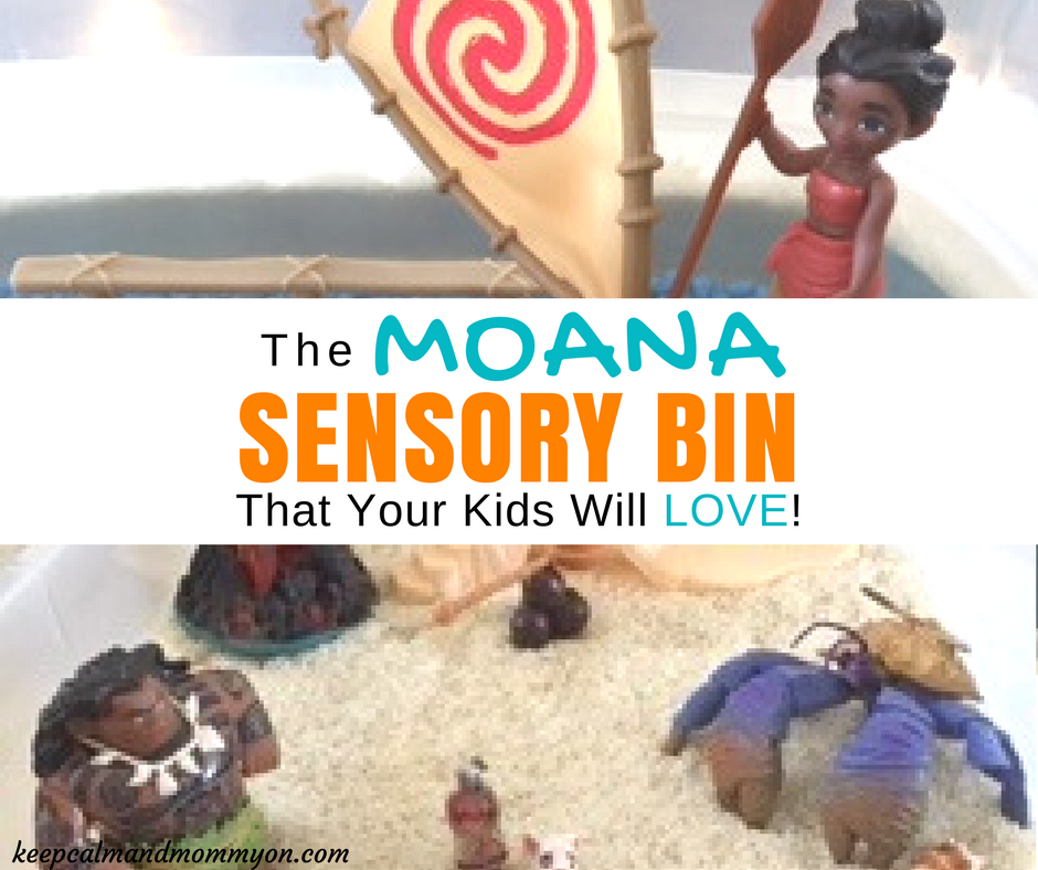 Moana Sensory Bin!