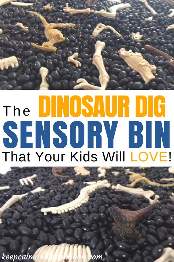 Dinosaur Dig Sensory Bin