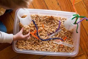 Cereal Sensory Bin