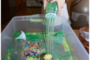 Craft Sand Sensory Bin