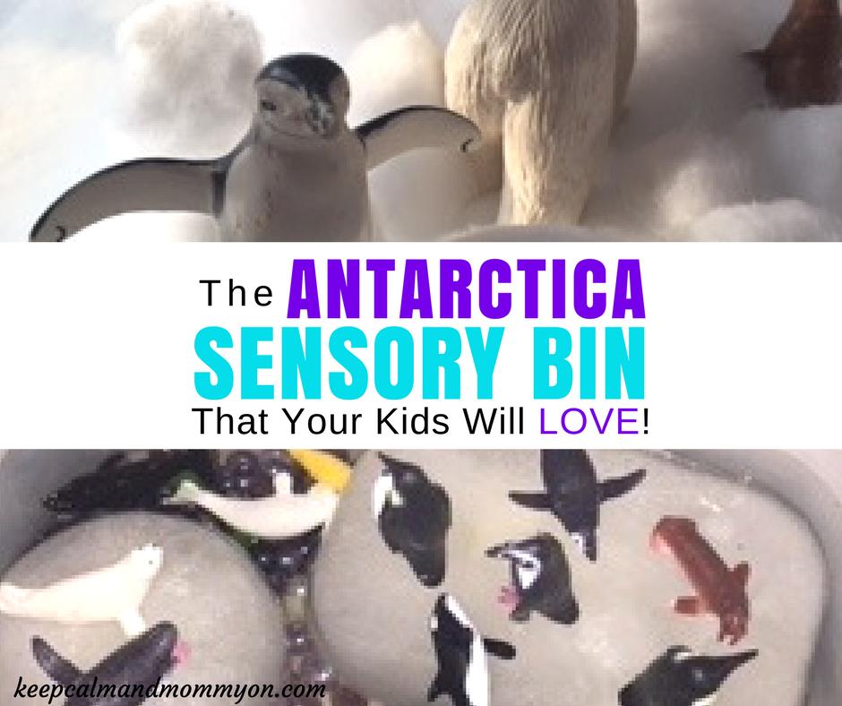 Antarctica Sensory Bin!