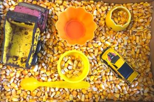Yellow Sensory Bin