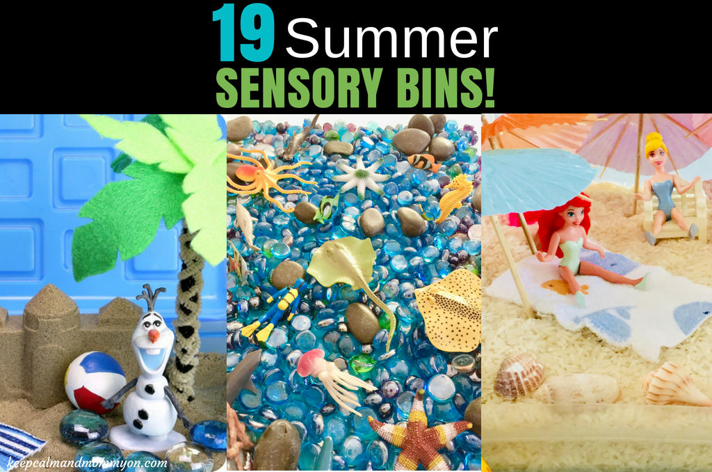 19 Summer Sensory Play Bins!