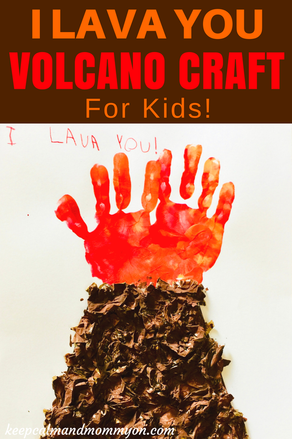 I Lava You Volcano Craft