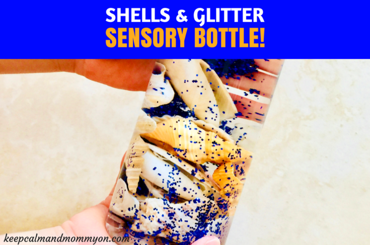 Shell and Glitter Sensory Bottles!