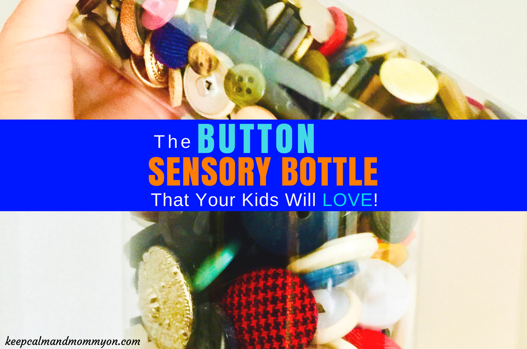 Button DIY Sensory Bottle!