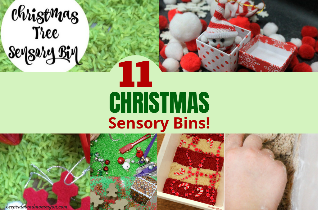 11 Christmas Sensory Bin Ideas