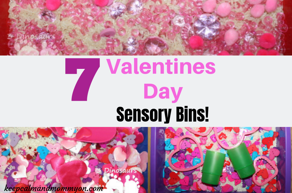 7 Valentines Day Sensory Bins