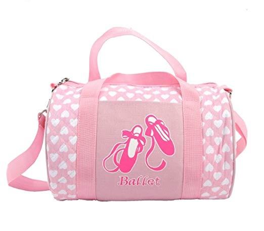 Peachnblue Quilted Dance Ballet Duffle Bag for Girls