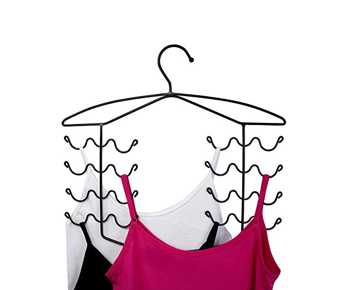 3 Pack Women's Bra Sport Tank Camisole Top Swim Suit Strap Dress Hanger Closet Organizer (Bronze)