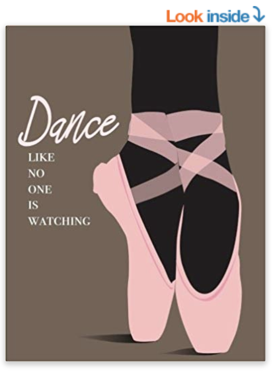 Dance Like No One Is Watching: Ballet Notebook (Composition Book Journal) (8.5 x 11 Large), Dance Gifts