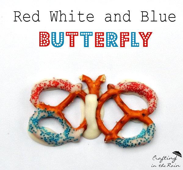 4th of July Pretzel Butterflies