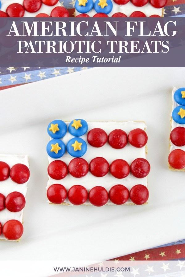 American Flag Graham Cracker Patriotic Treats Recipe Tutorial