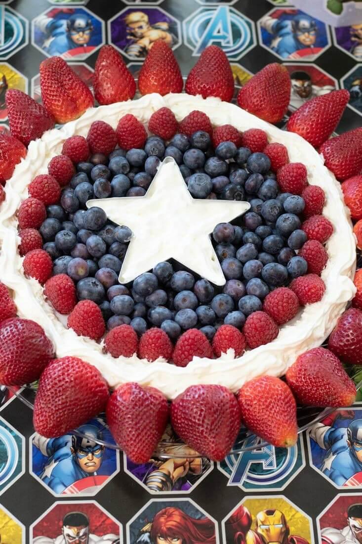 Captain America Fruit Tray