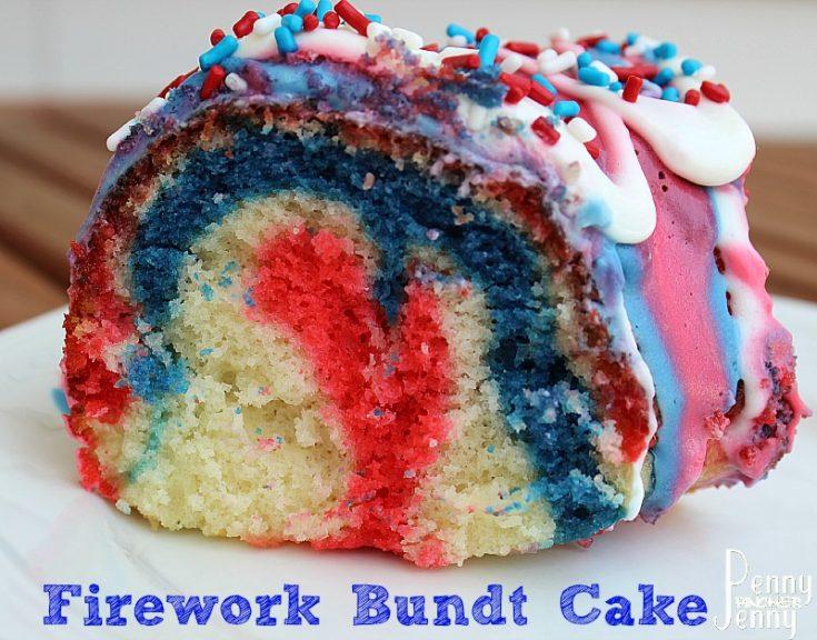 Firework Bundt Cake Recipe