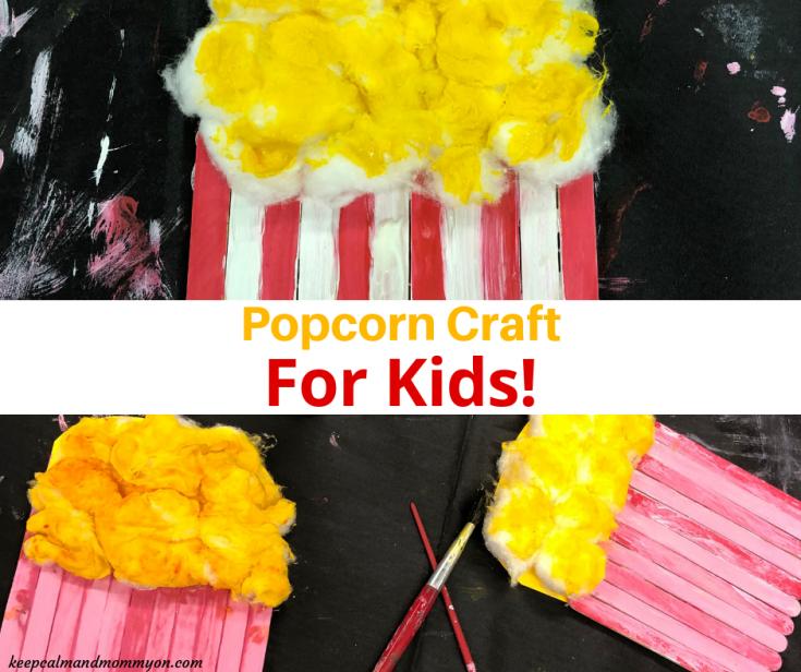 Popcorn Craft For Kids