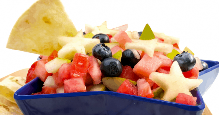 Red, White And Blue Fruit Salsa ~ On My Kids Plate