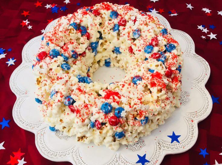 Patriotic Popcorn Cake – Fun Recipe to Make with Kids