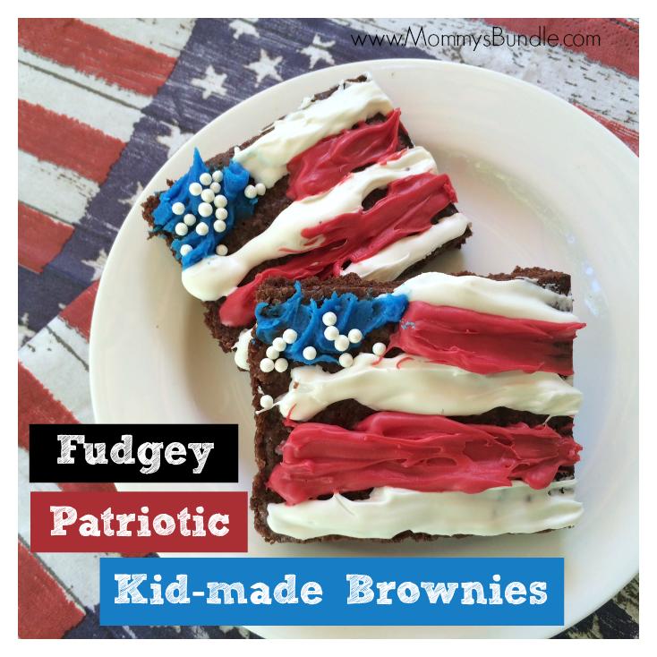 Fudgey Patriotic Kid-Made Brownies