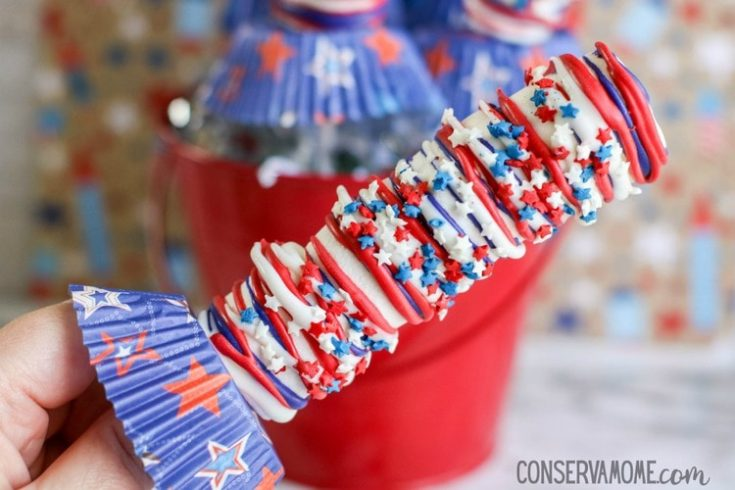 Patriotic Marshmallow Pops: A Red,White and Blue Dessert Idea