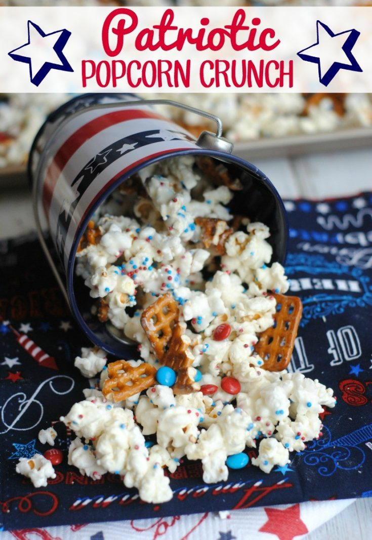 Patriotic Popcorn Crunch: Red, White & Blue Snack Fun!