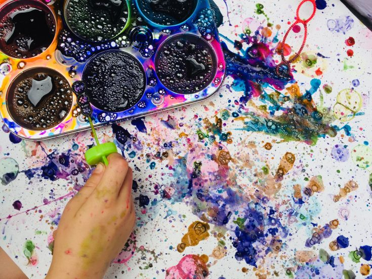 Bubble Painting – Fun Summer Activity