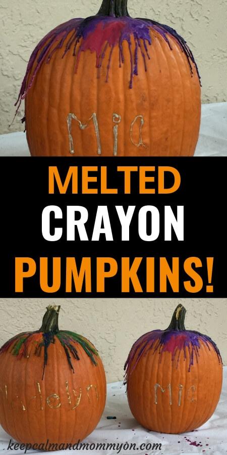 Melted Crayon Pumpkin