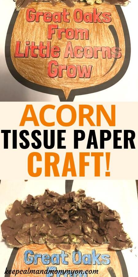 Acorn Tissue Paper Craft