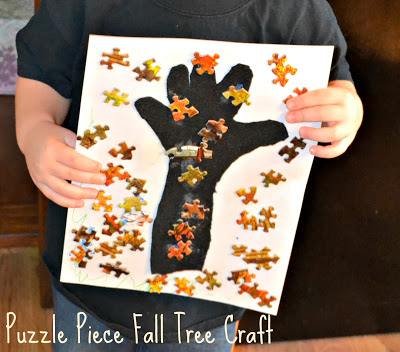 Puzzle Piece Fall Tree Craft
