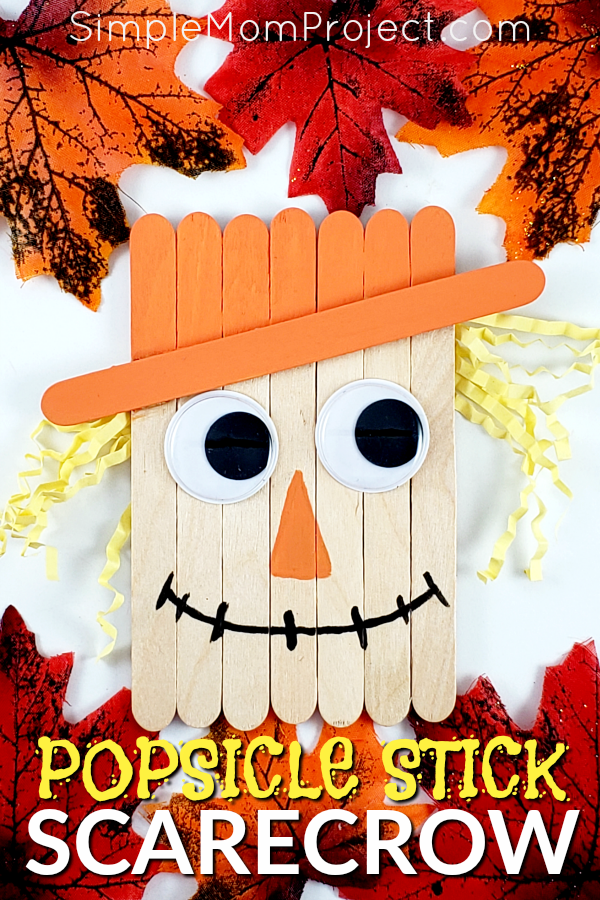 Easy DiY Fall Scarecrow Popsicle Stick Craft