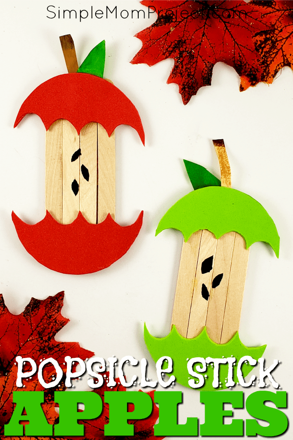 Easy and Fun Fall Apple Popsicle Stick Craft