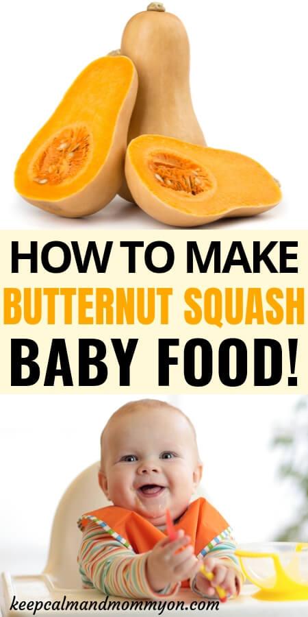 Butternut Squash Baby Food