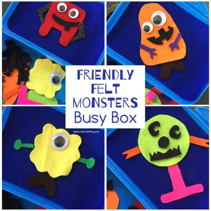 Friendly Felt Monsters Busy Box