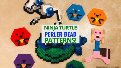 15 Ninja Turtle Perler Beads!
