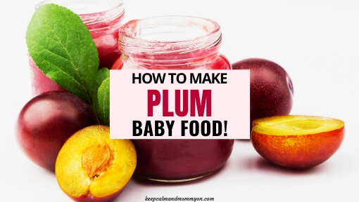 How to Make Plum Baby Food