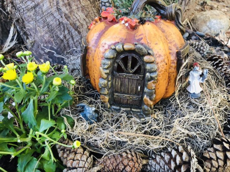 Spooky Fall Fairy Garden