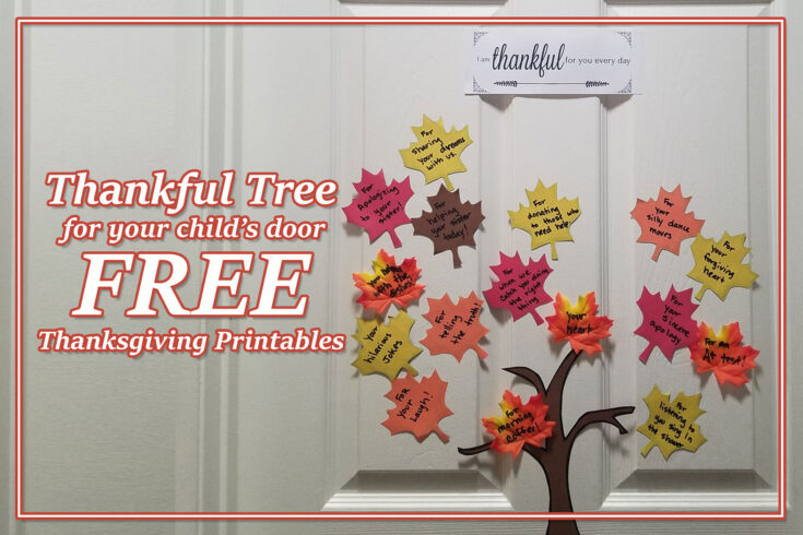 Free Thanksgiving printables individual Thankful Tree kit