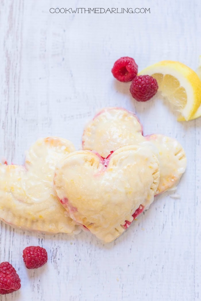 Raspberry-Lemon Hand Pies for Two! Gluten free and melt in your mouth!