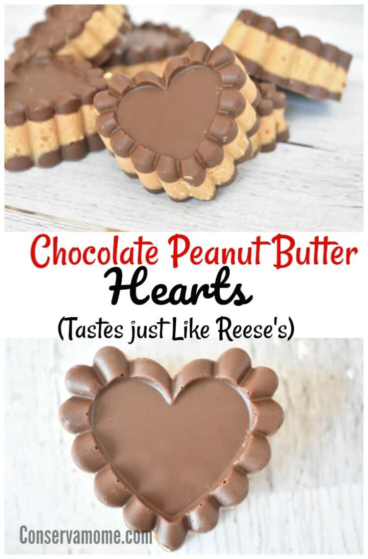 Chocolate Peanut Butter Hearts- Just Like Reese's
