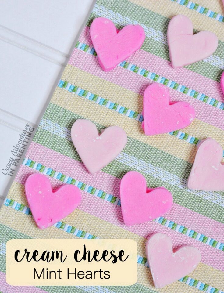 Cream Cheese Mint Hearts for Valentine's Day