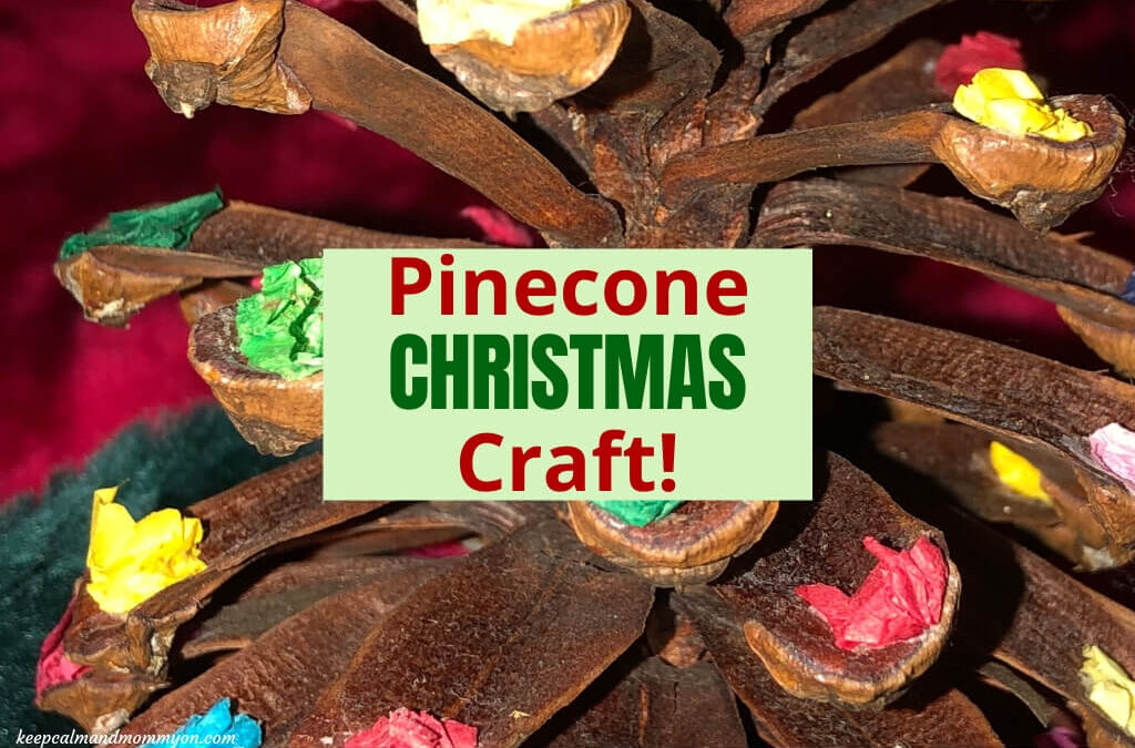 Pinecone Christmas Craft for Preschoolers!