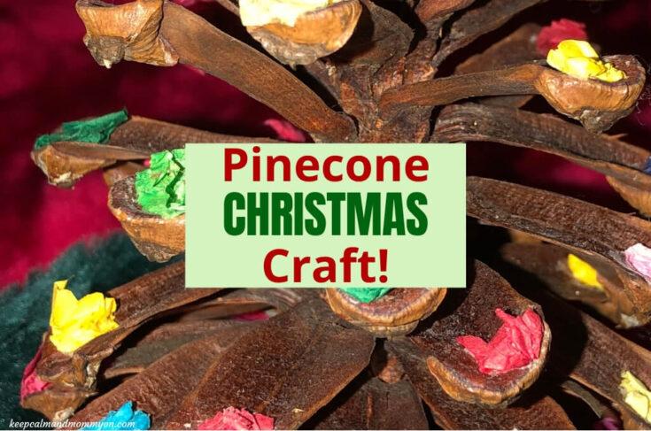 Pinecone Christmas Craft for Preschoolers!