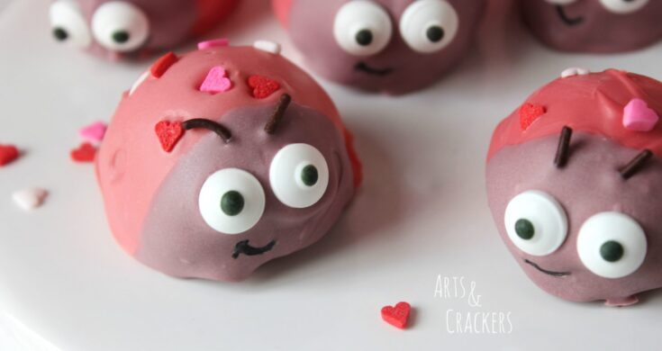 Love Bug/Ladybug Cookie Balls Treat for Valentine's Day
