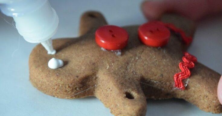 Salt Dough Gingerbread Ornaments - Kids Christmas Craft